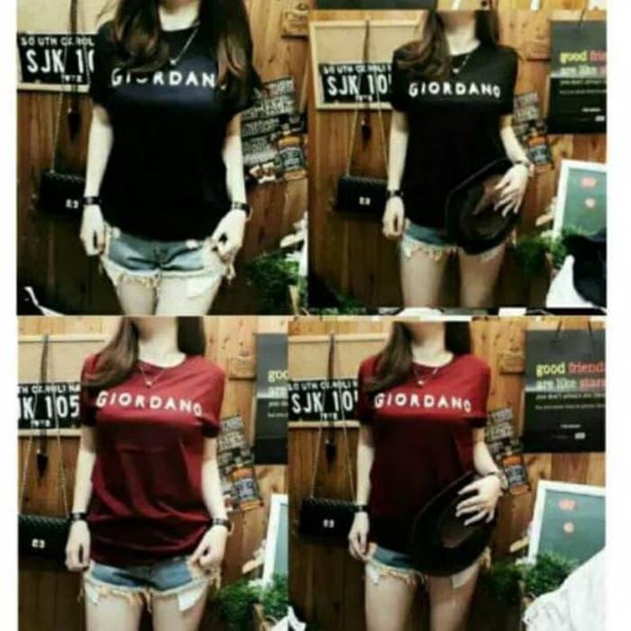 CINDERELLASHOP - Kaos K382 Rx Fashion Giordano Tee Bahan Spandrx T-Shirt