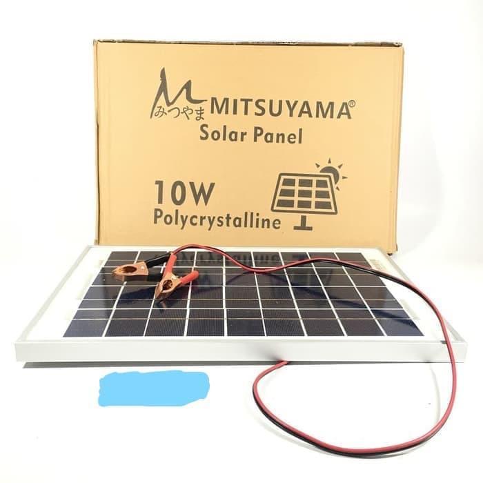 Solar Cell / Panel Surya / Poly Solar Panel 10WP (Watt peak) Mitsuyama - sedia paket lengkap power bank 900 mini 100wp 12v cas hp paket mini charger aku cell terumah raman terbesar transparan portable pembangkit listrik harga promo