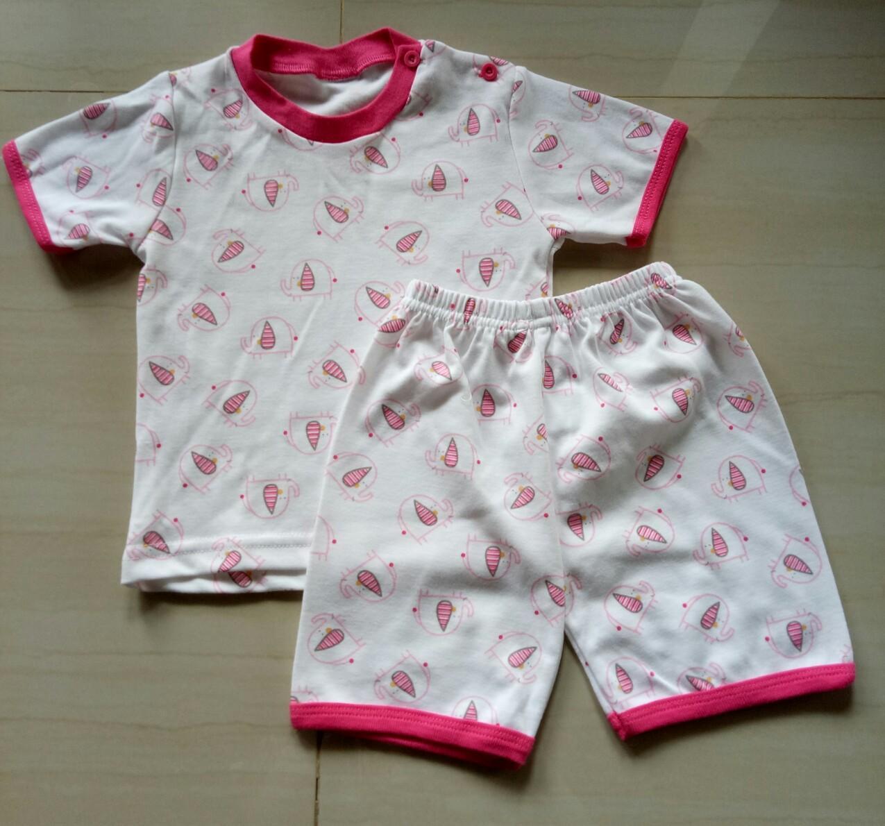 Amaris Fashion - Piyama Bayi Perempuan 0-12 Bulan - Setelan Baju Tidur Bayi Panjang
