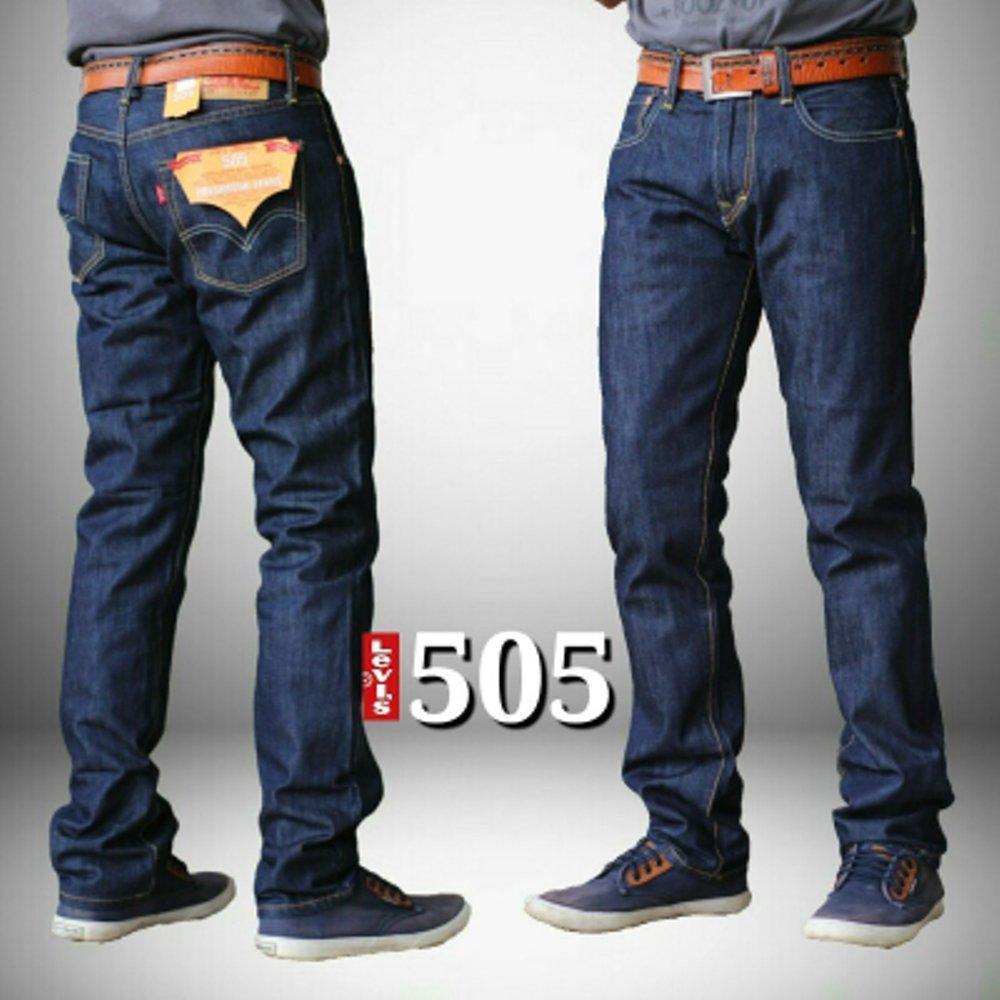 Celana Panjang Jeans Pria Garmen / Celana Fashion Pria Model Slimfit/Jeans Slimefit Biru Pria