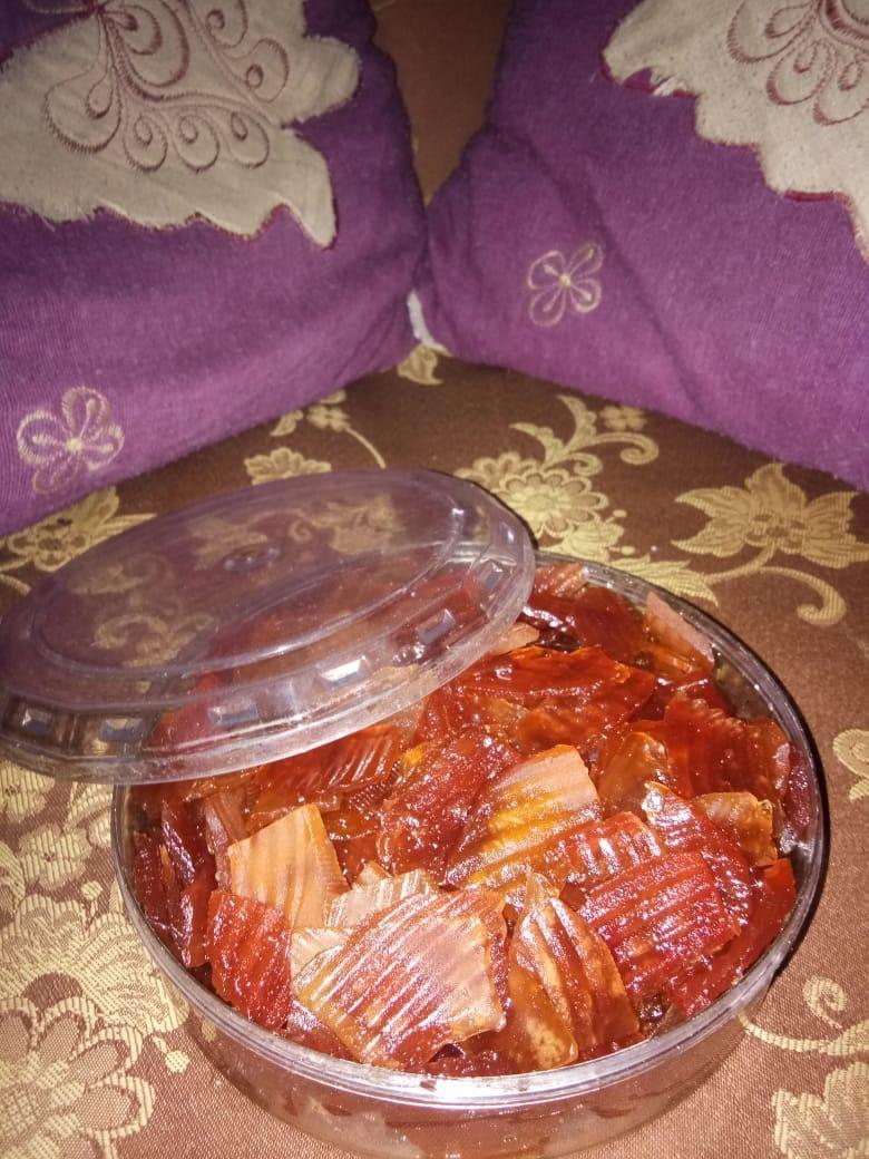 (cod) Bisa Bayar Di Tempat !!! Manisan Buah Pepaya 100% Gula Asli Tanpa Pemanis Buatan/awet Hingga 6bulan/berat Bersih (1kg) By Al Shakeer_store.