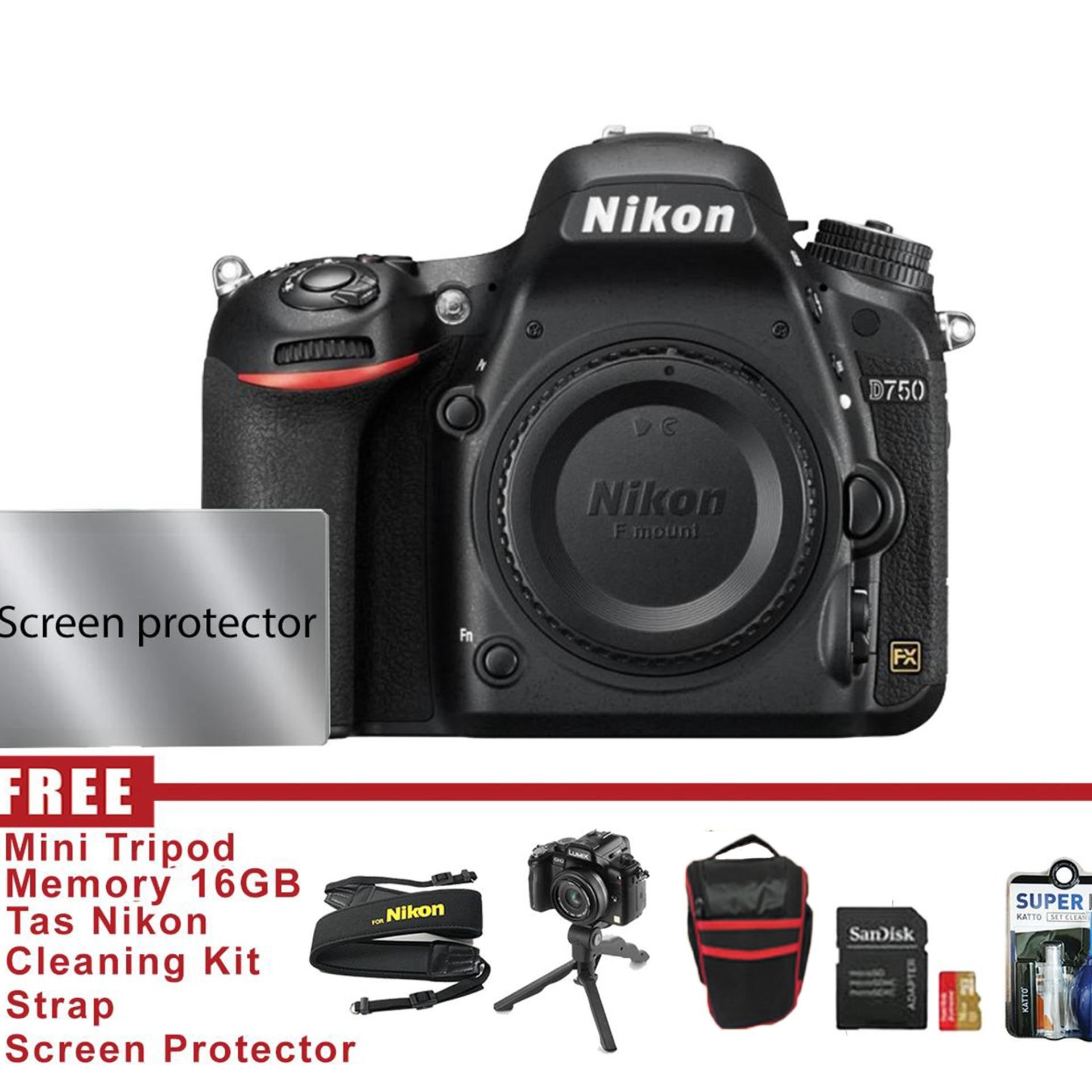 Nikon D750 Body Only - Free Accessories By Central Camera.