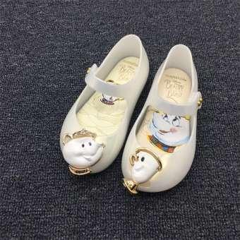 เด็กกาวพลาสติกรองเท้าแตะพื้นรองเท้าอ่อนรองเท้าเดินชายทะเลทารกเพศหญิงน่ารักแฟชั่น Schick การ์ตูนสัตว์รองเท้าเปิดหัวแม่เท้ารองเท้าสีวุ้น
