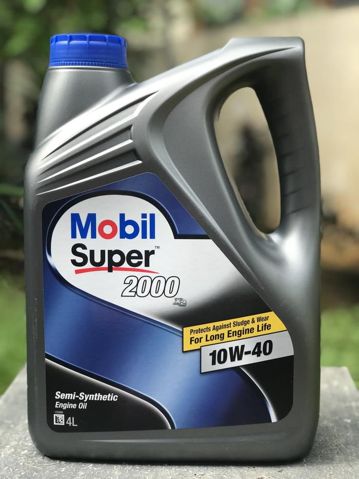Ori Oli Mobil Super 2000 Sae 10W-40 Galon 4 Liter