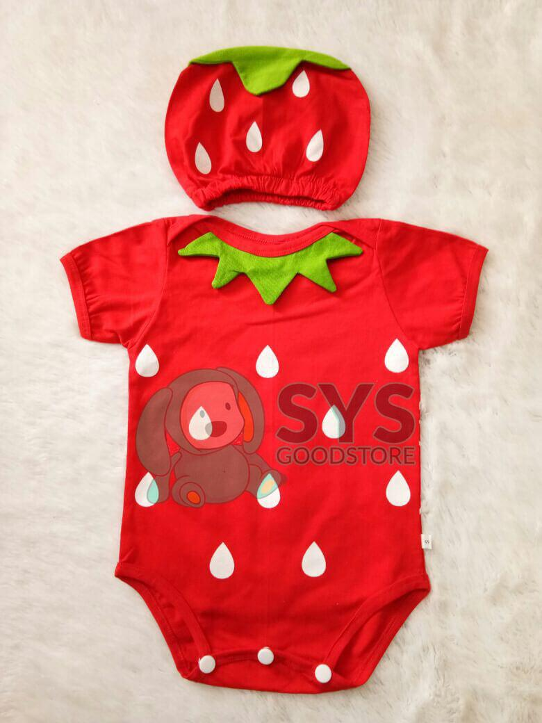 Sysgoodstore Jumper Bayi Strawberry Good Quality - Jumper bayi - Jumper bayi karakter – Baju jumper