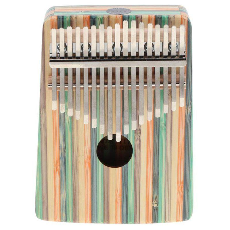 Kalimba 17 Key Thumb Piano Finger Percussion for Children Music Toy Gift - Green Streamline Pattern