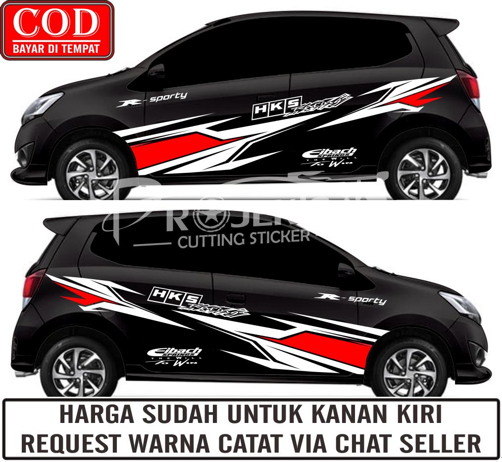 Bayar Di Tempat Stiker Mobil Stiker Striping Keren Universal Lazada Indonesia