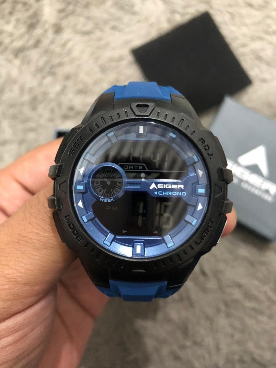 Eiger Jam Tangan - Makalo Digital Watch blue - Water Resistance Digital Watch