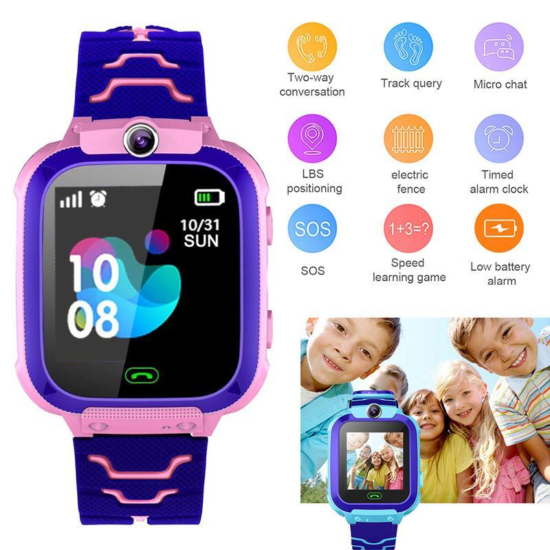 TopRating Q12 Children Kid Student Smart Phone Watch 1.44 Inch Dial Call SIM Location Tracker Voice Chat Life Waterproof Boy Girl Malaysia
