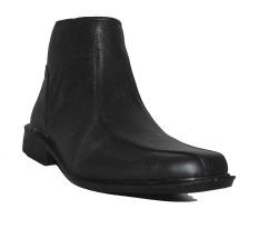 Spesifikasi D Island Shoes Formal High Slip On Genuine Leather Black Murah