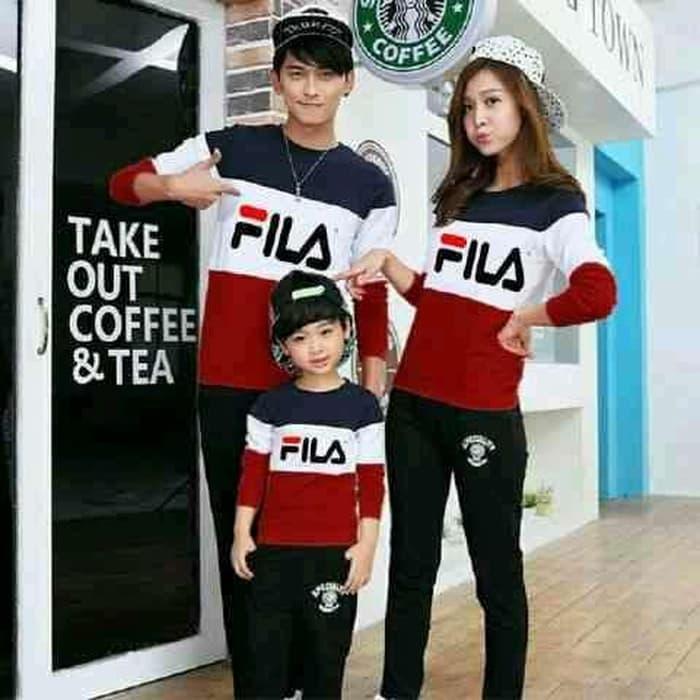 Jakarta Couple - Family Couple Sweater FILA1Anak/ Baju Keluarga /Baju Family Ayah Bunda Anak