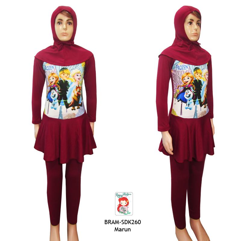 Rainy Collections Baju Renang Muslim Anak 6-10 Tahun Karakter