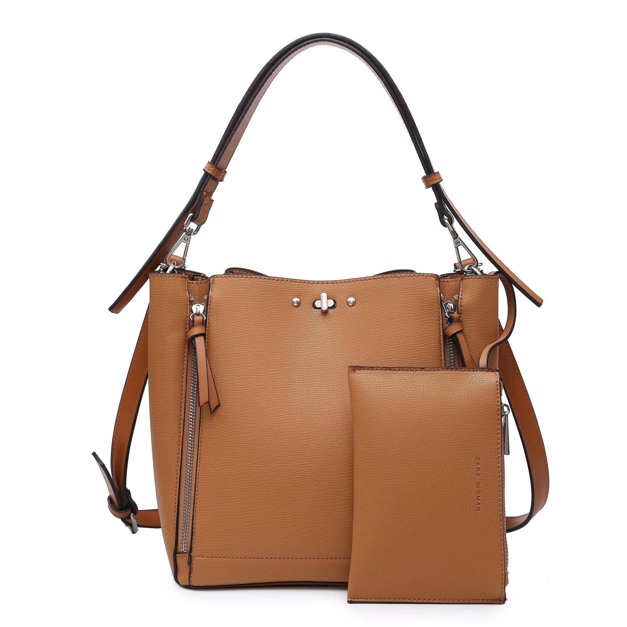 Tas Wanita Murah Brand : Zara shopping bag zip set pocket