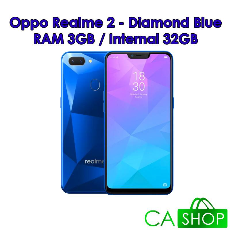 Realme 2 - RAM 3GB ROM 32GB (3/32) - Diamond Black / Diamond Blue / Diamond Red - Baru NEW - Resmi