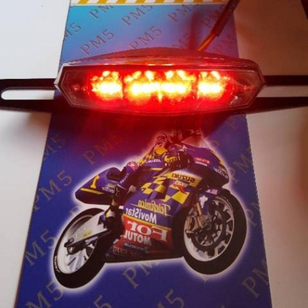 Lampu stop belakang 3 in 1 set dudukan plat universal rx king cb yb dll / stoplamp led 3 in 1