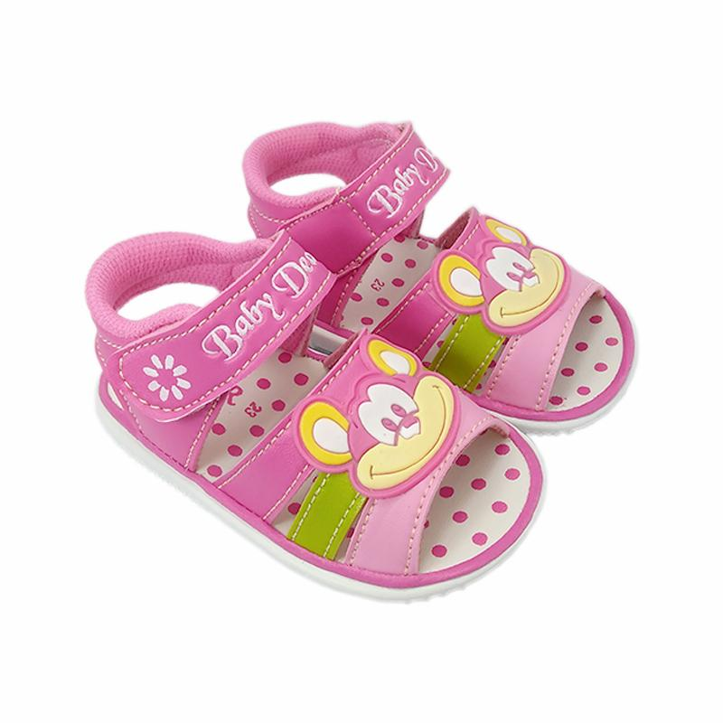 C15 sepatu sandal anak perempuan unik bahan lembut usia umur 1 2 tahun lucu murah bunyi