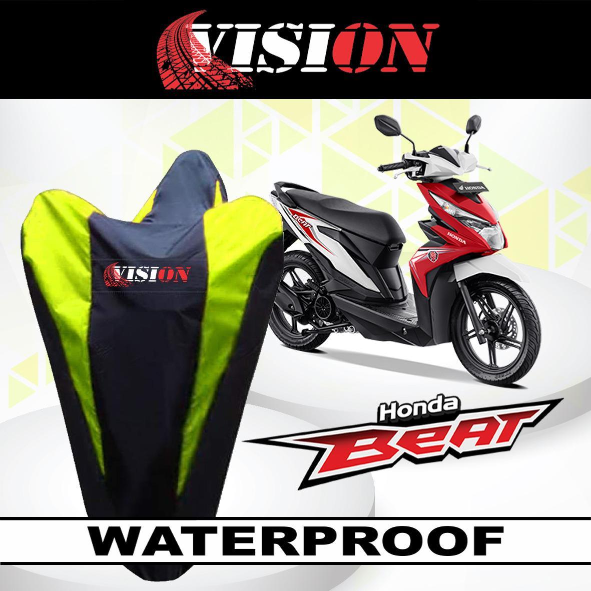 [ BAYAR DI TEMPAT ] List KUNING VISION Sarung Bodi Motor Honda Beat Anti Air Cover Body Waterproof Penutup Pelindung Selimut Penjaga LEXI NMAX AEROX VARIO PCX