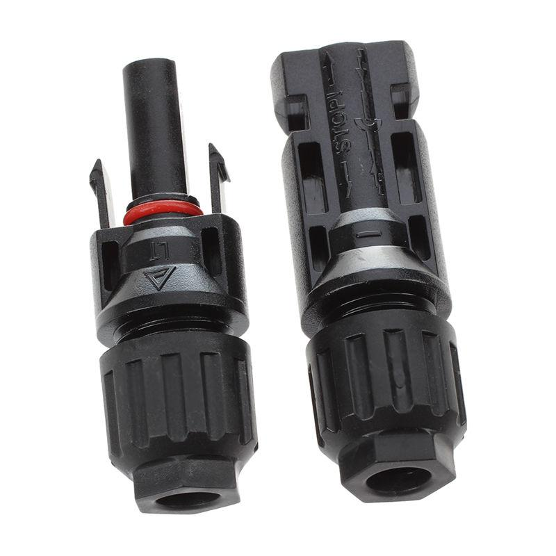 1 pair MC4 Male + Female M/F Connectors Set for PV Solar Panel Cable Accessories