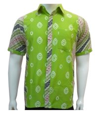 Beli Batik Solo Bo4003 Kemeja Batik Jumputan Kombinasi Batik Solo Dengan Harga Terjangkau