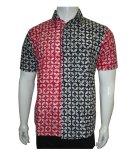 Jual Batik Solo Bo4004 Kemeja Batik Kawung Kombinasi Online