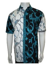 Harga Batik Solo Bo4006 Kemeja Batik Motif Akar Hitam Putih Asli