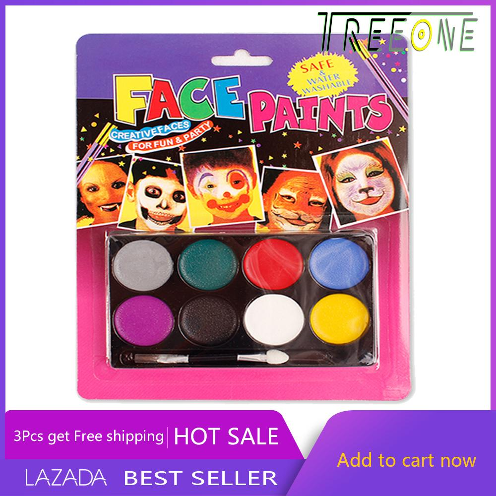 Lukisan Wajah Untuk Seni Tubuh 8 Color Body Face Painting For Party Performace By Treeone.