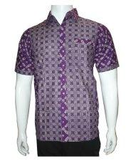 Harga Batik Solo Bo4013 Kemeja Batik Pria Motif Kawung Ungu Terbaik