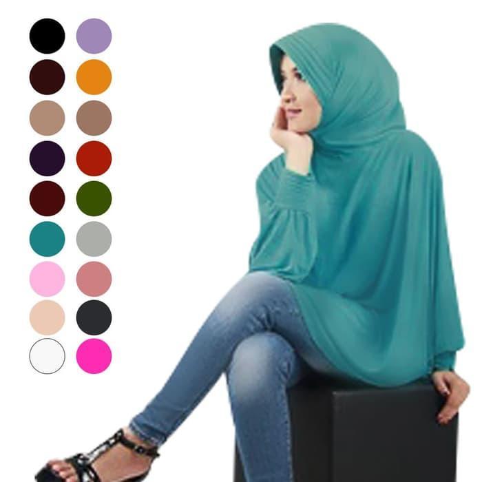 Jilbab Fatimah Bergo Lengan Jersey Murah Panjang