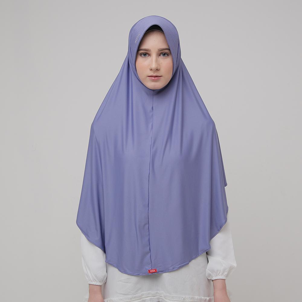 Kerudung Zoya Jilbab Instan - Marsha Sparkling Viola | HEIQ Tech