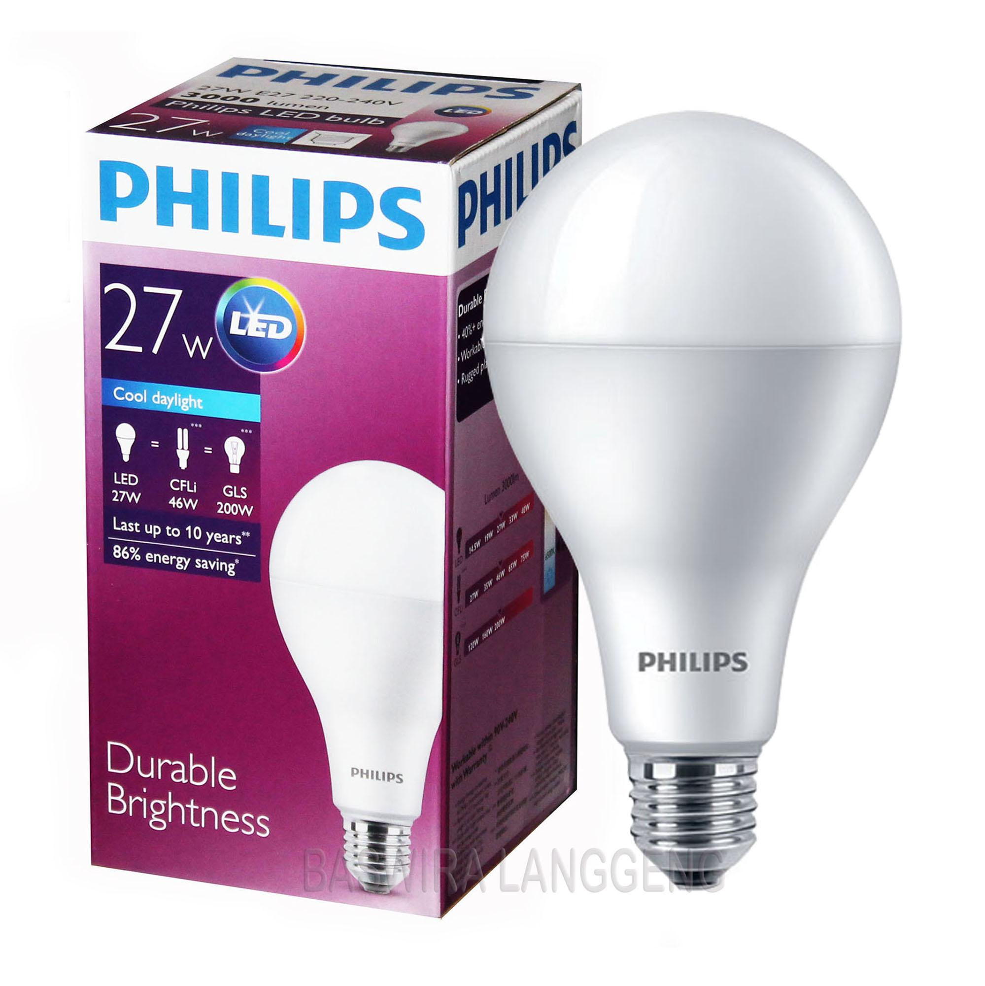 PHILIPS Lampu Led Bulb 27 Wat 27 W 27Watt 27W Putih NEW MODEL