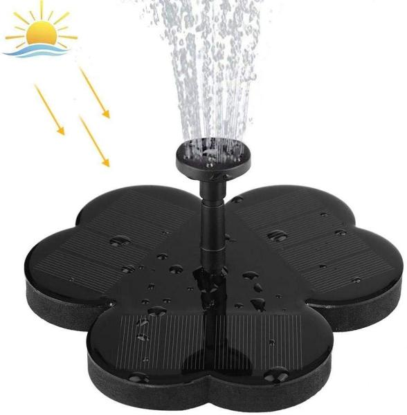 Qooiu Fountain 190L/H Solar Fountain Outdoor Watering 6V Water Pump for Garden Fountain Pool Water Fountain Landscape Decor