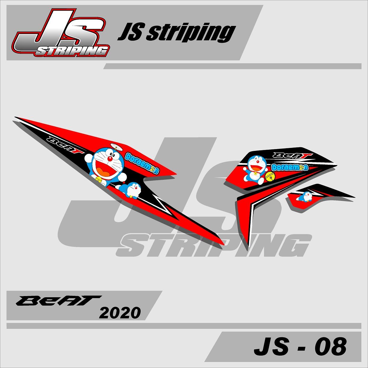 Sticker Striping Beat Fi 2020 Variasi Stiker Lis Motor Honda Beat Fi New 2020 Doraemon Js 08 Lazada Indonesia