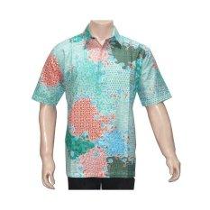 Diskon Batik Solo Bo4022 Kemeja Batik Motif Sekar Jagad Hijau Batik Solo