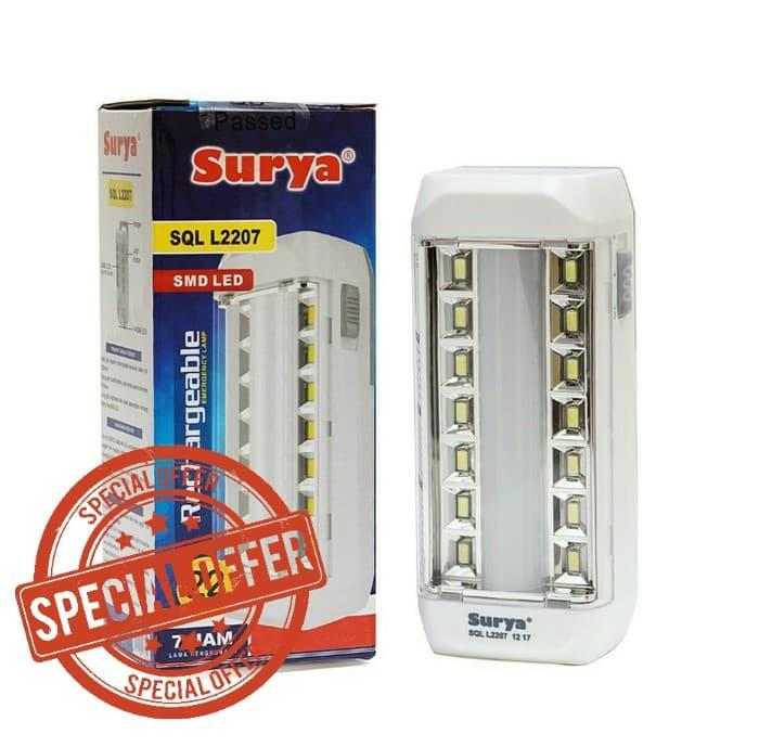 Surya Lampu Emergency Syt L2207 Smd Led Light Led - Putih By Elektronik Rumah.