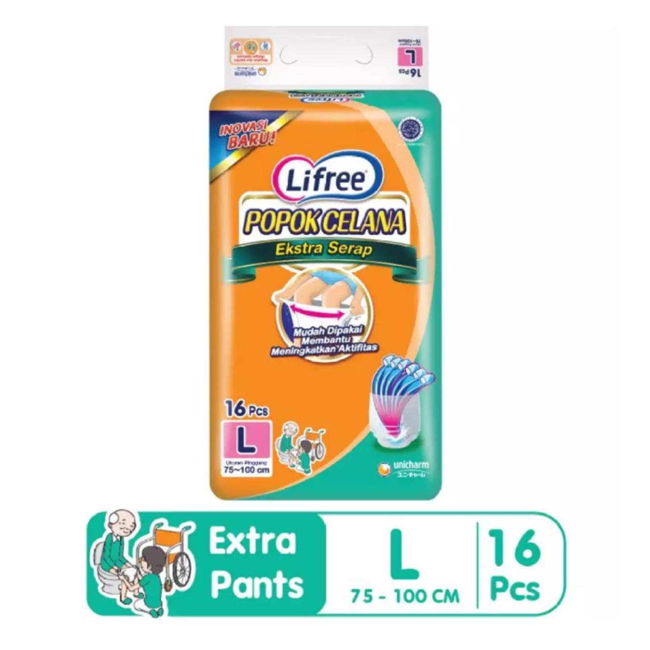 Lifree Extra Ekstra Serap Popok Celana Dewasa Pant Pants Diapers Lansia L16 L 16 By Bloom Official Store.