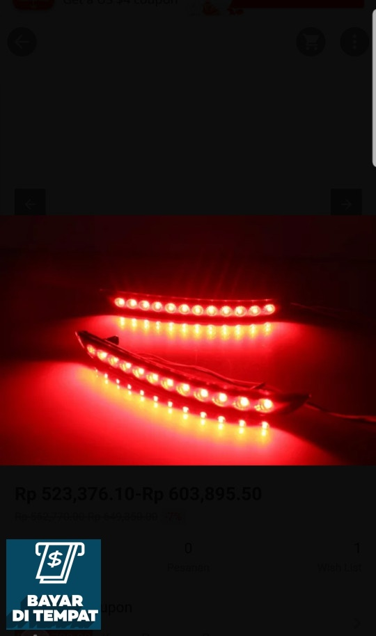 Palugada COD Lampu Led Bumper Belakang / Led Mata Kucing Toyota Innova Reborn