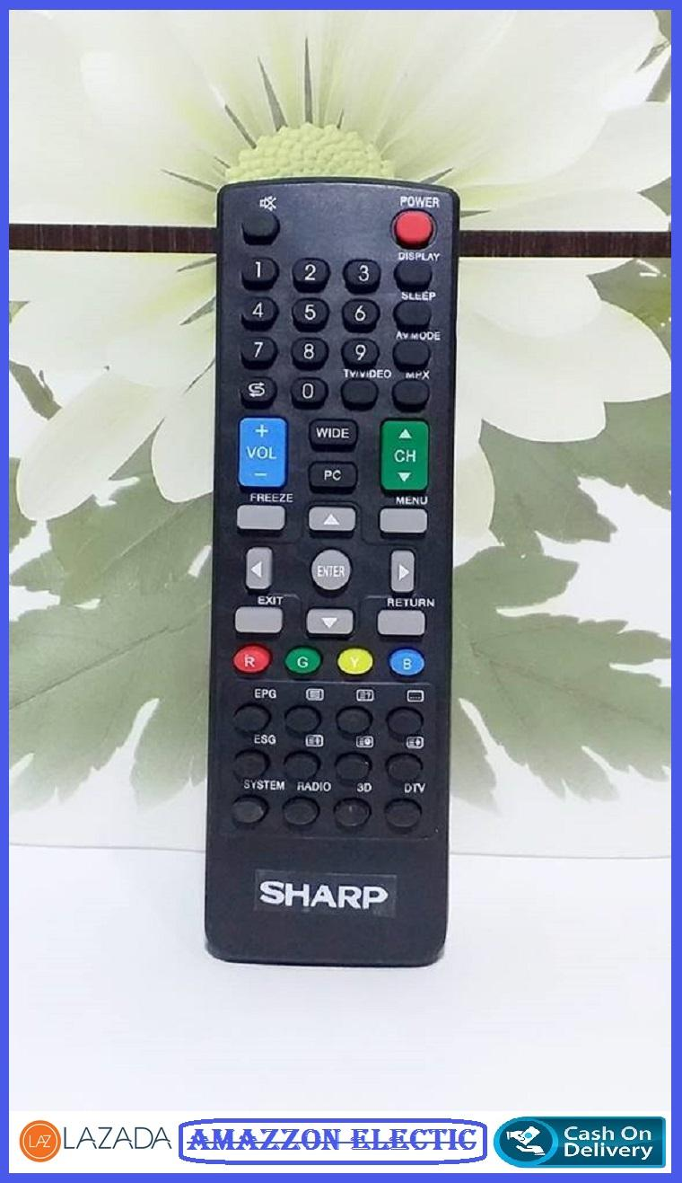 Sharp Remote Tv Lcd Led Semua type- hitam