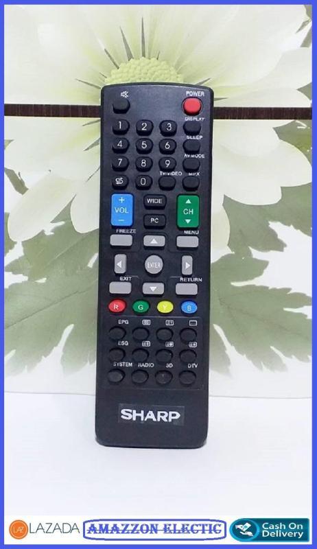 Sharp Remote Tv Lcd Led Semua type- hitam