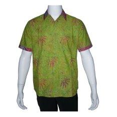 Beli Batik Solo Bo5005 Kemeja Batik Pria Motif Rumput Hijau Merah Batik Solo Dengan Harga Terjangkau