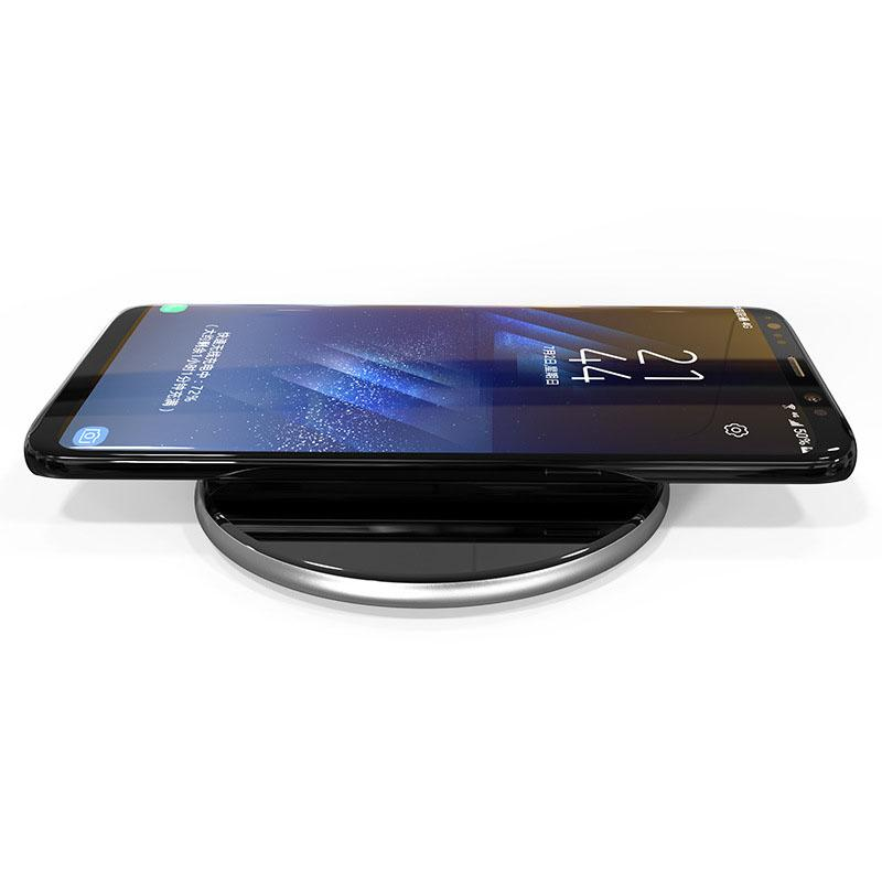 AKBAR222 Qi Wireless Charger Dock Fast Charge for Smartphone - Black