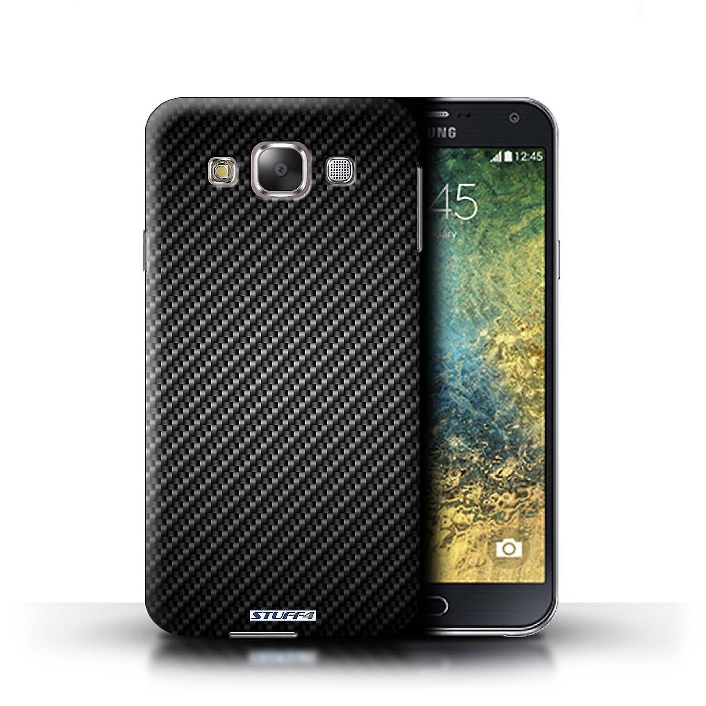 Delcell Carbon Case For Samsung Galaxy E7 Hard Case