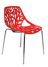 IKONS Furniture Olivia Kursi Plastik - Red