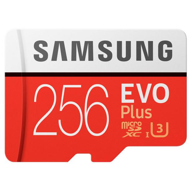 Moko222 Samsung MicroSDXC EVO Plus Class 10 UHS-1 U3 (100MB/s) 256GB with SD Adapter - MB-MC256GA