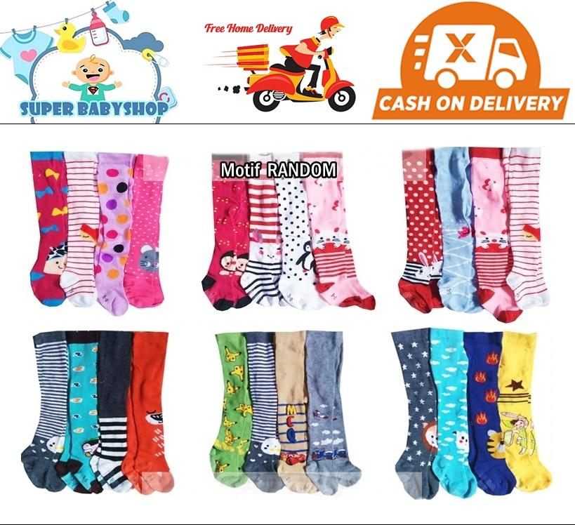 Legging Bayi Isi 4 Pcs/ Legging Ctr/ Legging Bayi Cotton Rich (motif Bagus) By Super Babyshop.