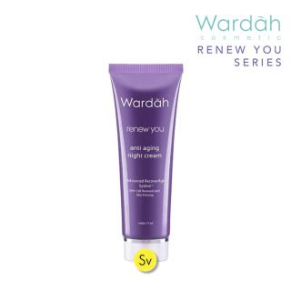 Wardah Renew You Anti Aging Night Cream 17ml Krim Wajah Awet Muda thumbnail