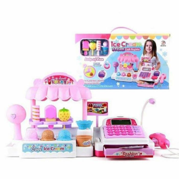 Mainan Anak Perempuan Kasir Kasiran Ice Cream Store Cash Register By Agenmainan.