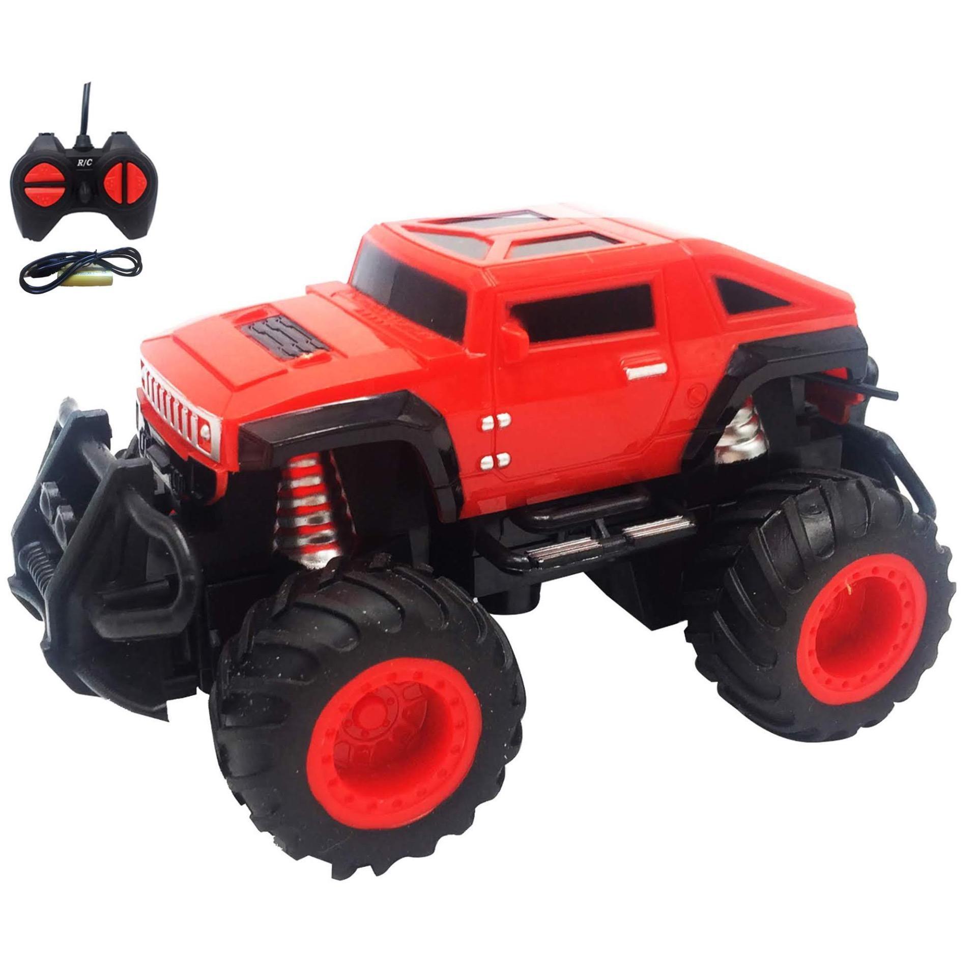 (BATERAI CAS + ADA LAMPU) RKJ Mainan Anak RC Mobil Remot Mini Car Land 995d495f2e