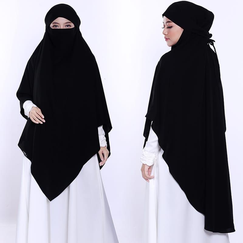 French Khimar Basic Triangle French Khimar Segitiga Khimar Syari 2 In 1 French Hijab Size Xxl Lazada Indonesia