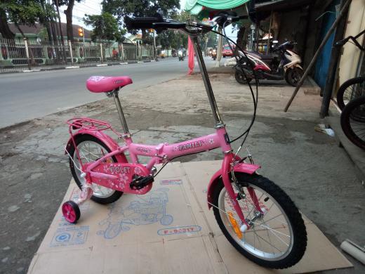 Promo    sepeda lipat 16 anak-anak family violet    Termurah