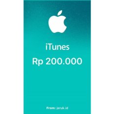 Apple iTunes Gift Card IGC Indonesia 200000